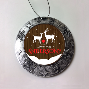 Personalized Buck And Doe First Christmas