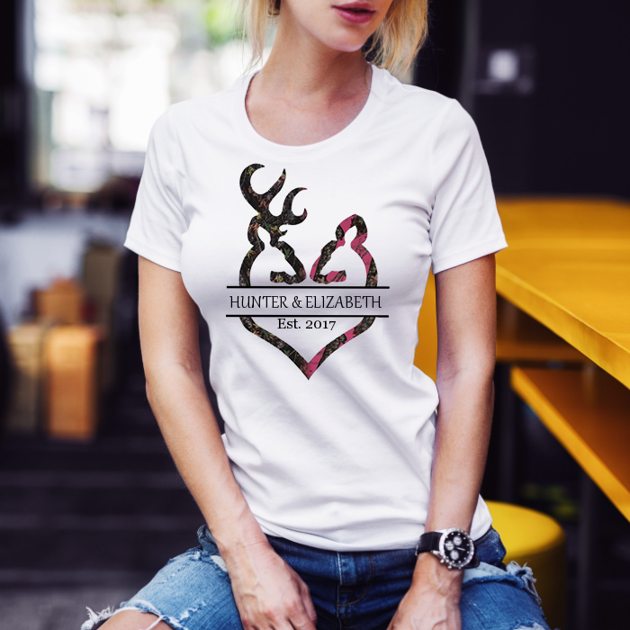 Loving Hunting Couple Adult Unisex T-Shirt