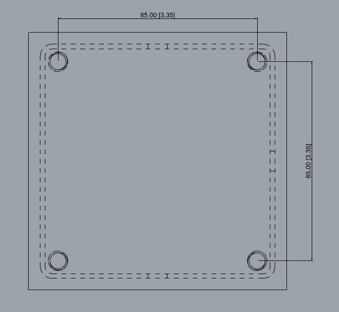 In-Ground Post Hole Mounting Pattern