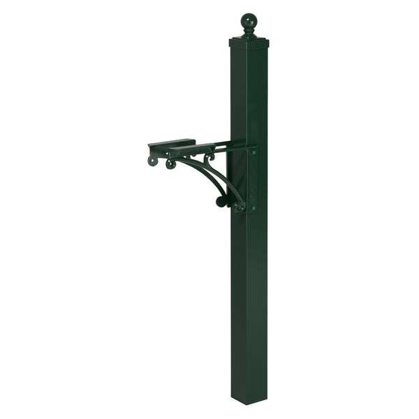 Whitehall Deluxe Post & Brackets w/ball finial - MailboxEmpire