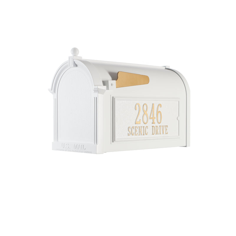 Whitehall Capitol Mailbox Side Plaque Package - MailboxEmpire