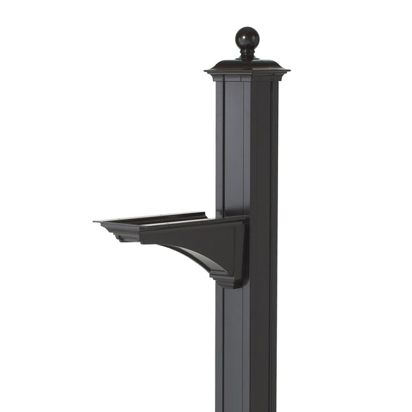 Whitehall Balmoral Post & Bracket w/ ball finial - MailboxEmpire