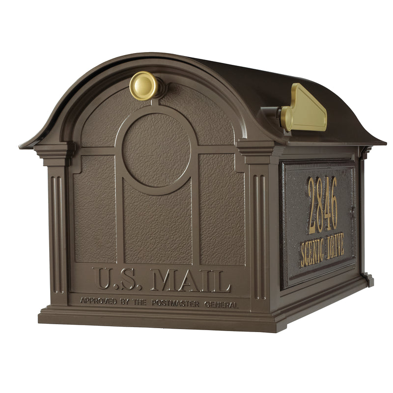 Whitehall Balmoral Mailbox Custom Side Plaques Package - MailboxEmpire
