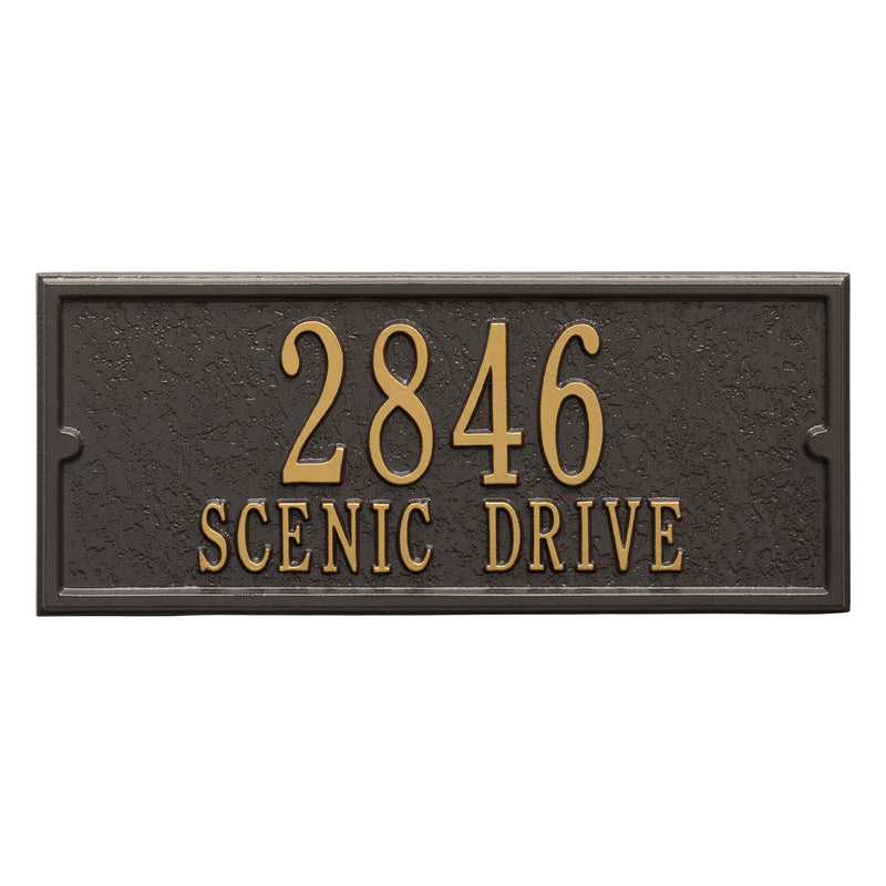 Whitehall Personalized Side Plaque - MailboxEmpire
