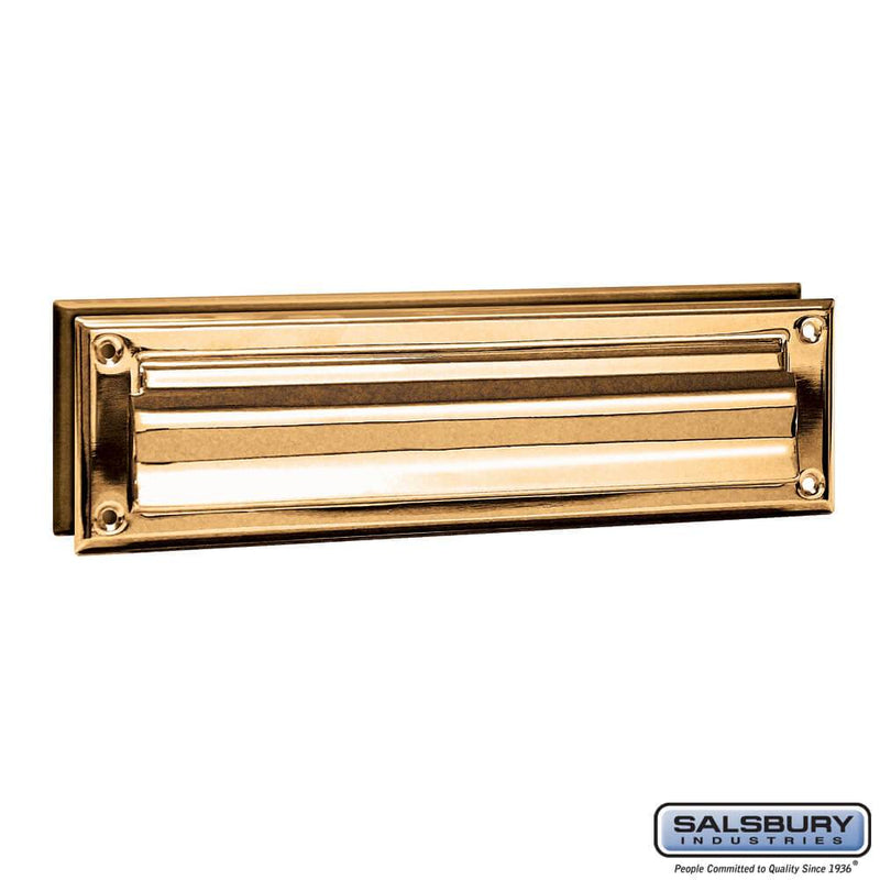 Mail Slot - Standard - Magazine Size  Finish - Brass