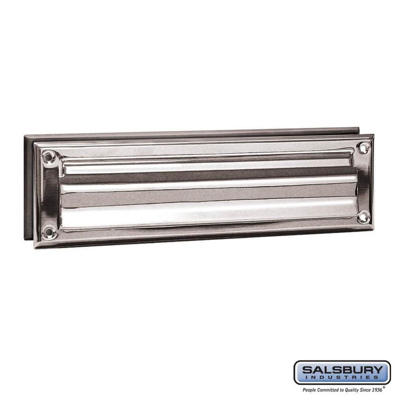 Mail Slot - Standard - Magazine Size  - Chrome