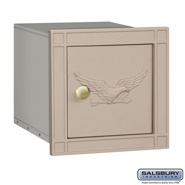 Cast Aluminum Column Mailbox - Non-Locking - Eagle Door  - Aluminum
