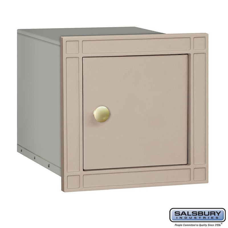Cast Aluminum Column Mailbox - Non-Locking - Plain Door  - Aluminum