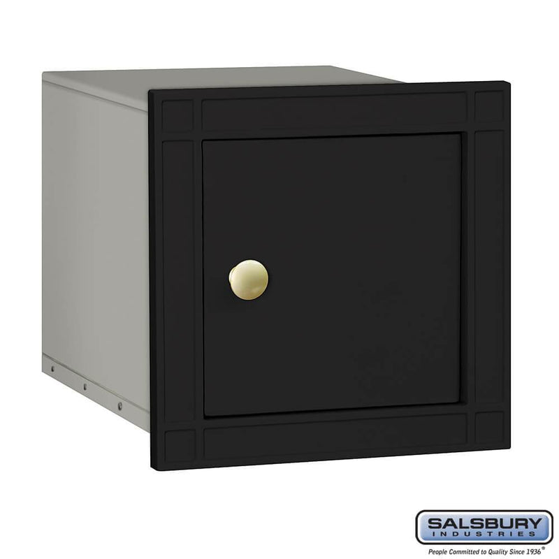 Cast Aluminum Column Mailbox - Non-Locking - Plain Door  - Black