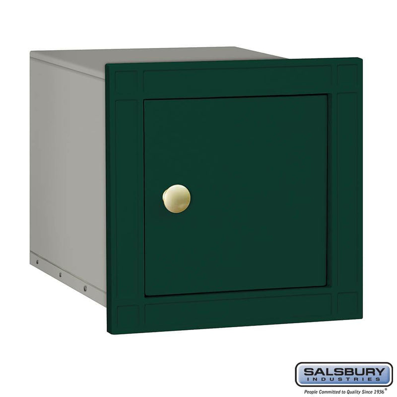 Cast Aluminum Column Mailbox - Non-Locking - Plain Door  - Green