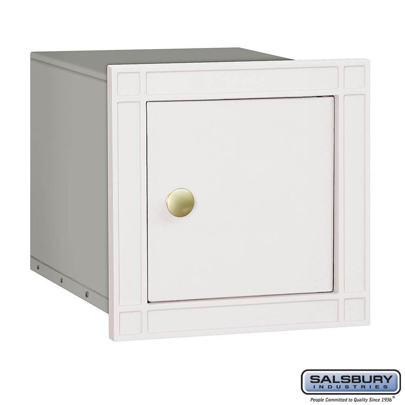 Cast Aluminum Column Mailbox - Non-Locking - Plain Door  - White