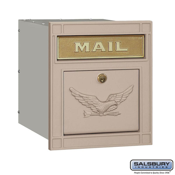 Cast Aluminum Column Mailbox - Locking - Eagle Door  - Aluminum