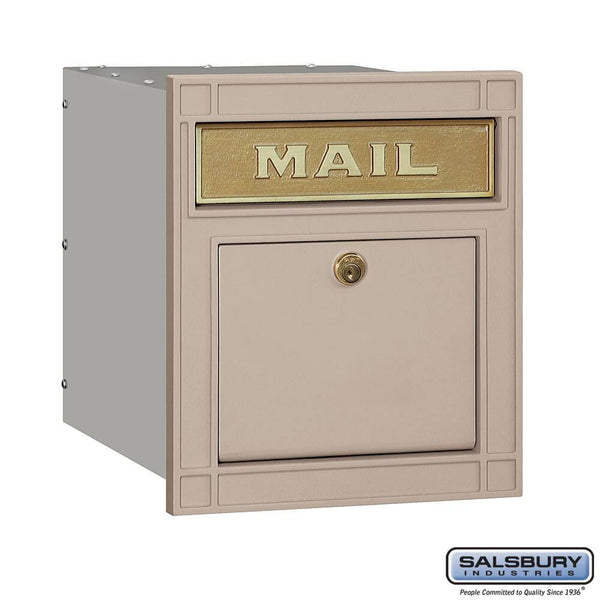 Cast Aluminum Column Mailbox - Locking - Plain Door  - Aluminum