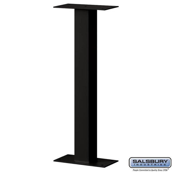 Standard Pedestal - Bolt Mounted - for Roadside Mailbox and Mail Chest  - Black
