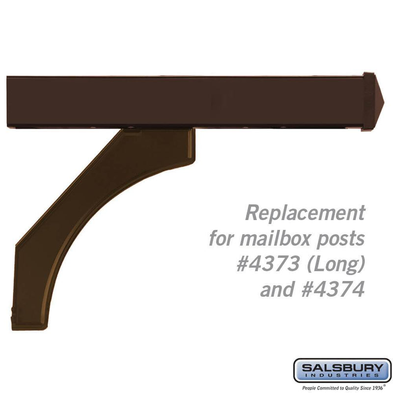 Arm Kit - Replacement for Deluxe Post for (2) Designer Roadside Mailboxes  - bronze