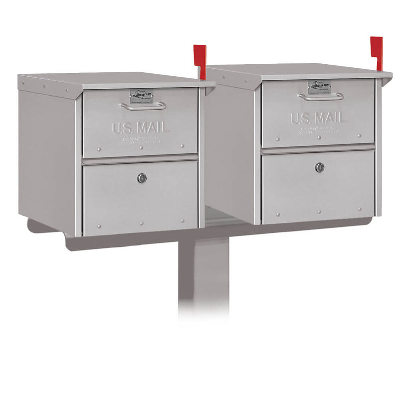 Salsbury Double Mail Chest Mailbox Post Package