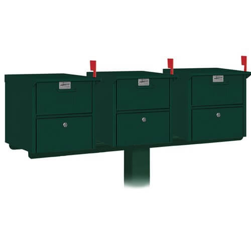 Salsbury Triple Mail Chest Mailbox Post Package