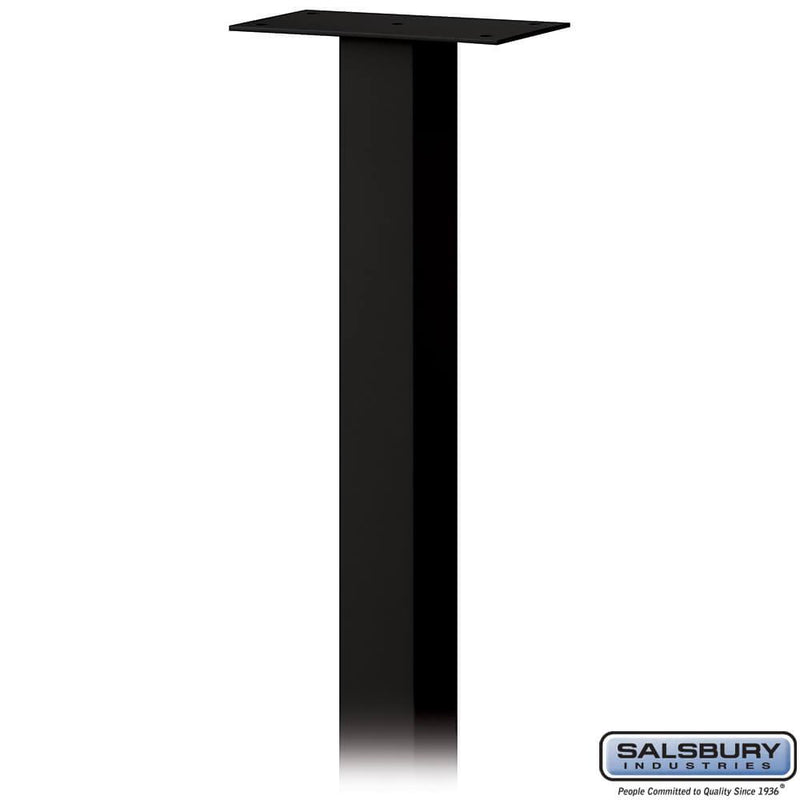 Standard Pedestal - In-Ground Mounted - for Roadside Mailbox, Mail Chest & Mail Package Drop  - Black