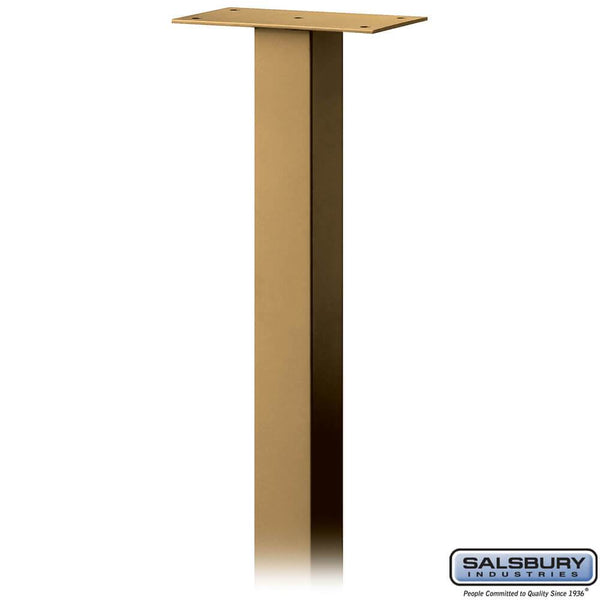 Standard Pedestal - In-Ground Mounted - for Designer Roadside Mailbox  - Brass