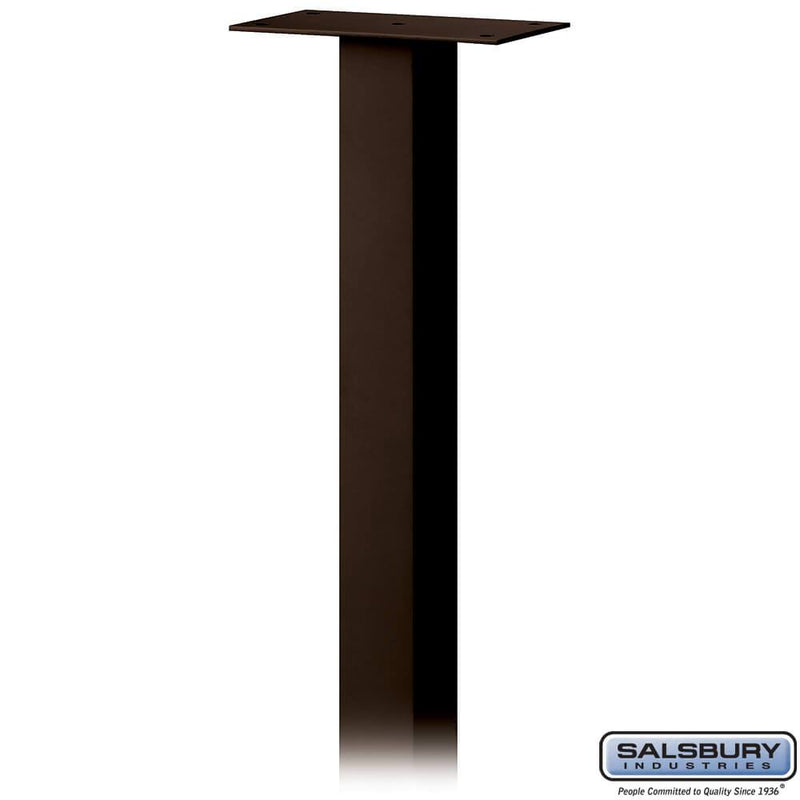 Standard Pedestal - In-Ground Mounted - for Designer Roadside Mailbox  - bronze