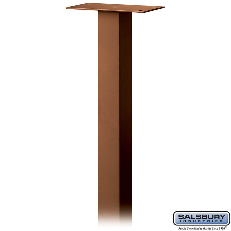 Standard Pedestal - In-Ground Mounted - for Designer Roadside Mailbox  - Copper
