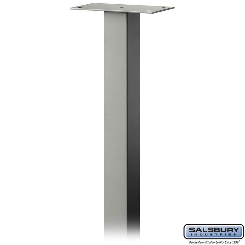 Standard Pedestal - In-Ground Mounted - for Designer Roadside Mailbox  - Nickel
