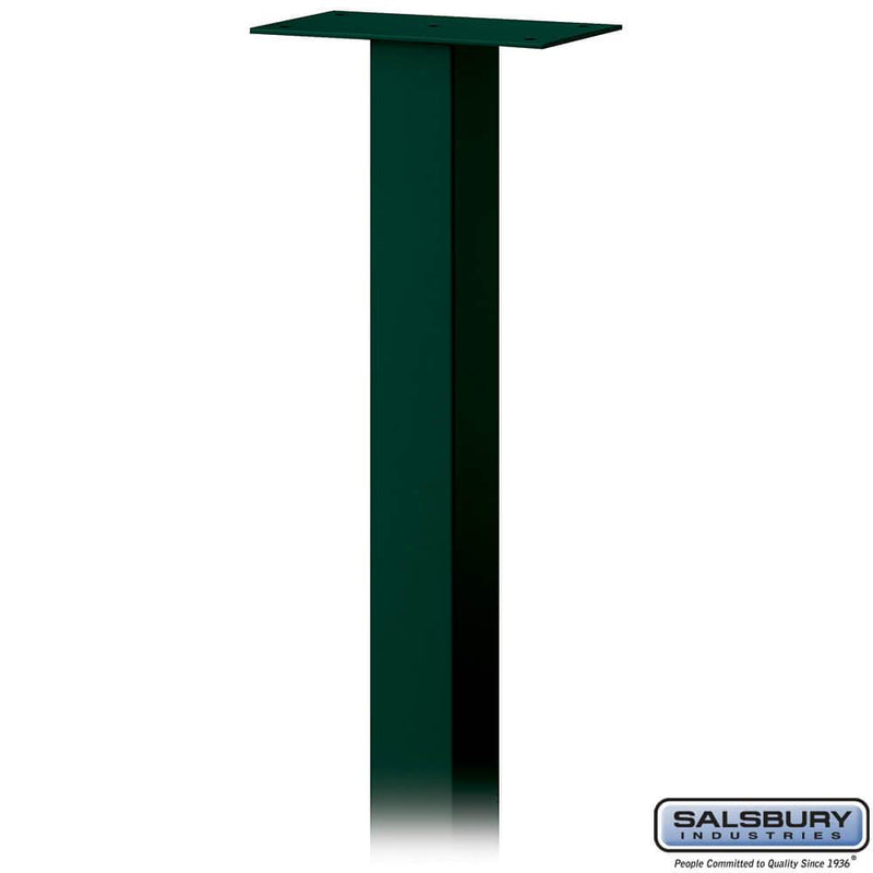 Standard Pedestal - In-Ground Mounted - for Roadside Mailbox, Mail Chest & Mail Package Drop  - Green