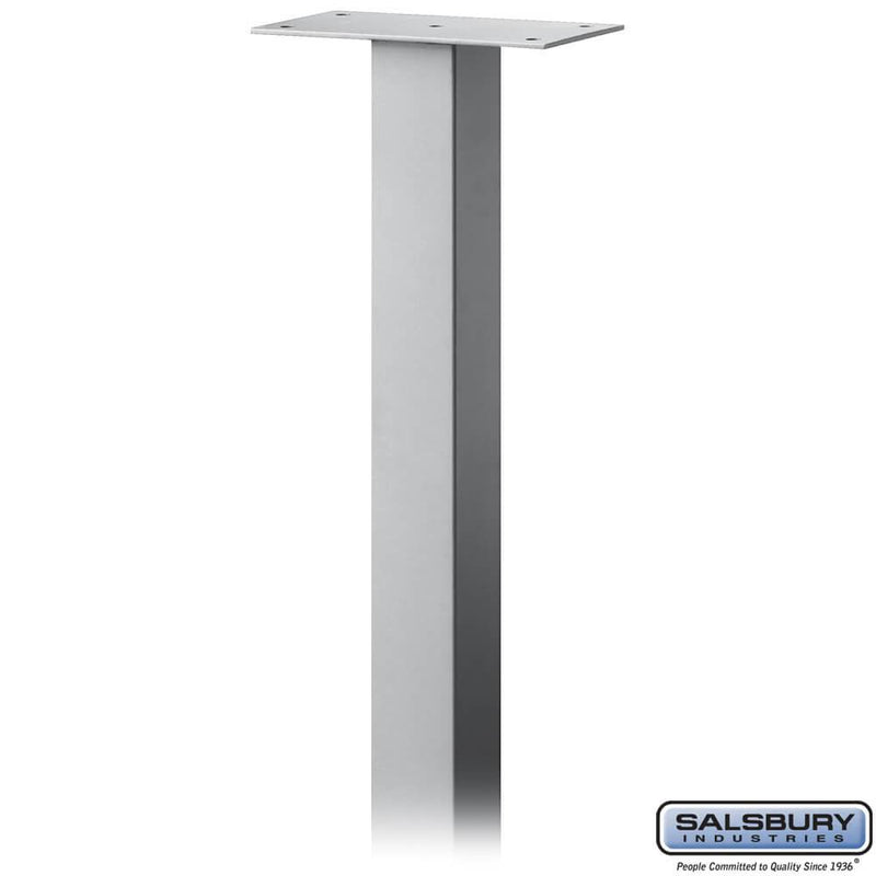 Standard Pedestal - In-Ground Mounted - for Roadside Mailbox, Mail Chest & Mail Package Drop  - Silver
