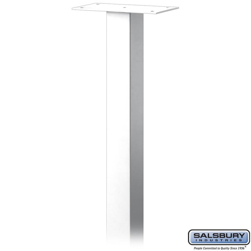 Standard Pedestal - In-Ground Mounted - for Roadside Mailbox, Mail Chest & Mail Package Drop  - White