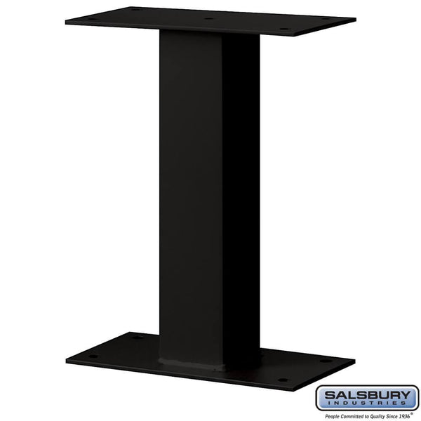 Standard Pedestal - Bolt Mounted - for Mail Package Drop  - Black