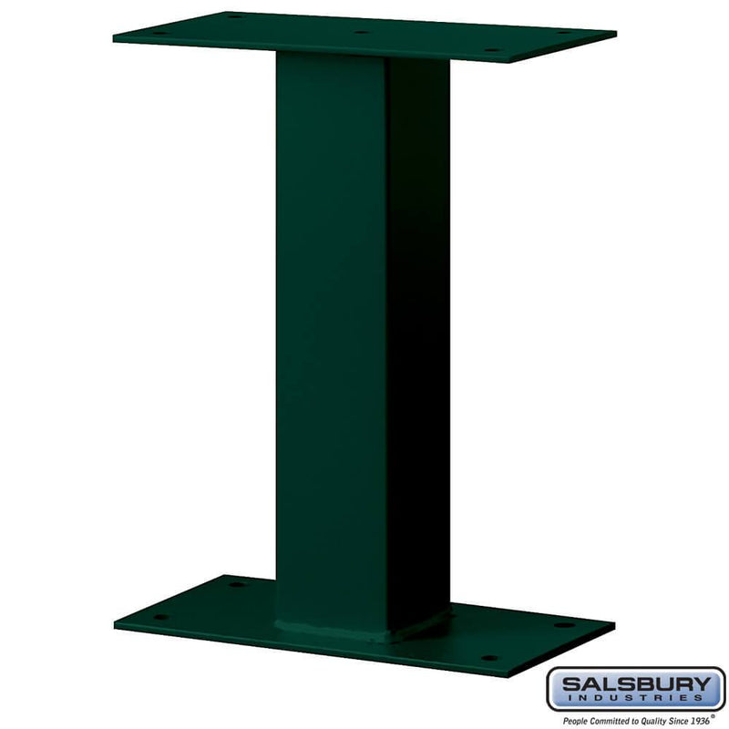 Standard Pedestal - Bolt Mounted - for Mail Package Drop  - Green