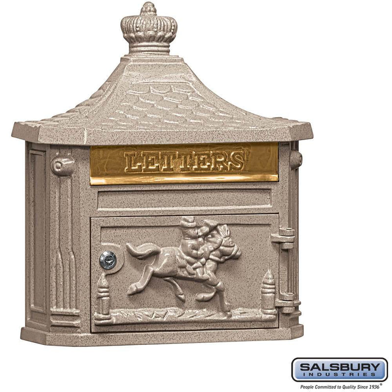 Victorian Mailbox - Surface Mounted  - Beige