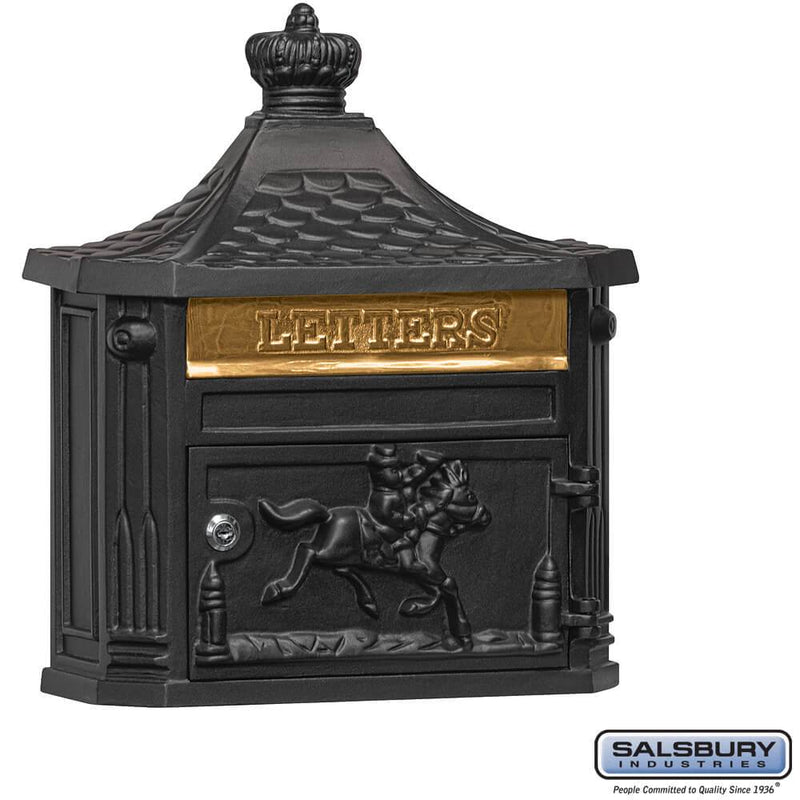 Victorian Mailbox - Surface Mounted  - Black