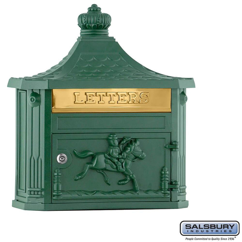 Victorian Mailbox - Surface Mounted  - Green