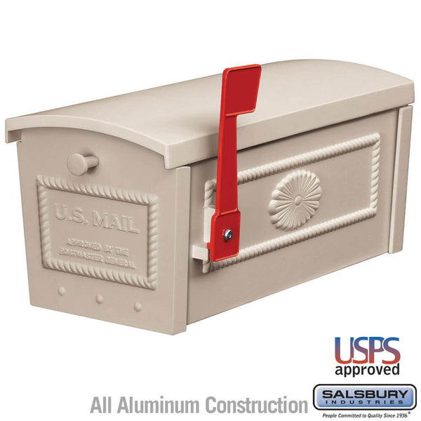 Townhouse Mailbox - Post Style  - Beige