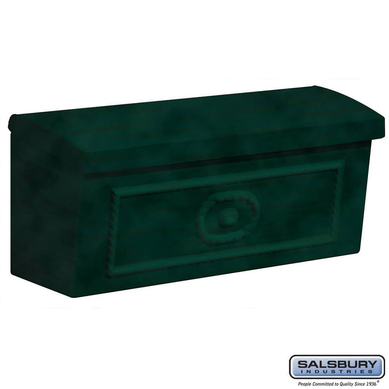Townhouse Mailbox - Surface Mounted  - Green