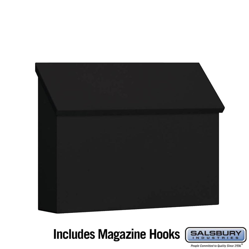 Traditional Mailbox - Standard - Horizontal Style  - Black