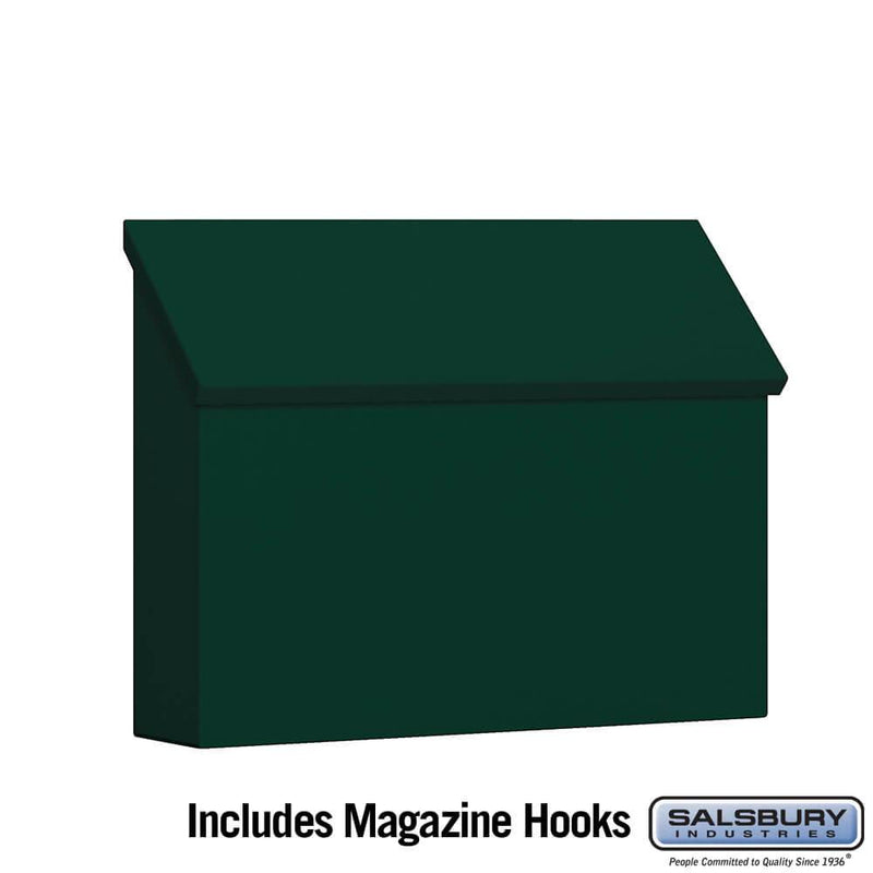 Traditional Mailbox - Standard - Horizontal Style  - Green