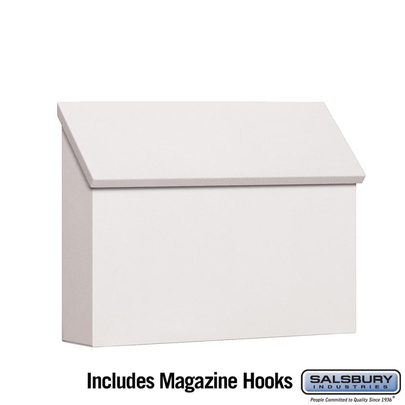 Traditional Mailbox - Standard - Horizontal Style  - White
