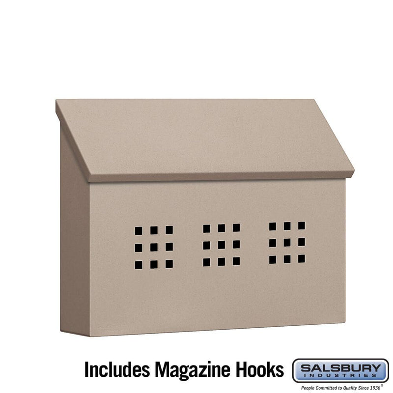 Traditional Mailbox - Decorative - Horizontal Style  - Beige