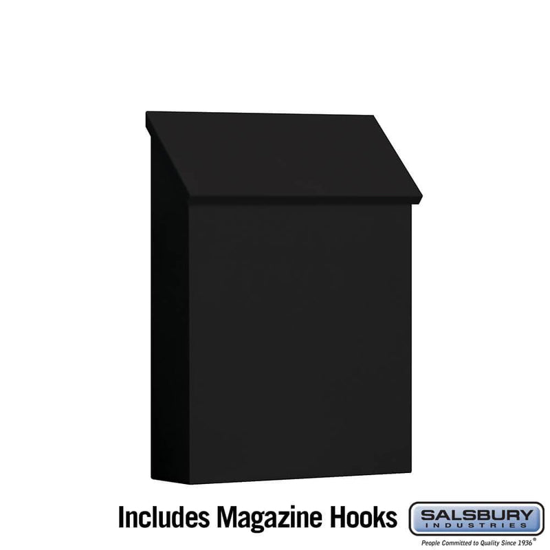 Traditional Mailbox - Standard - Vertical Style  - Black