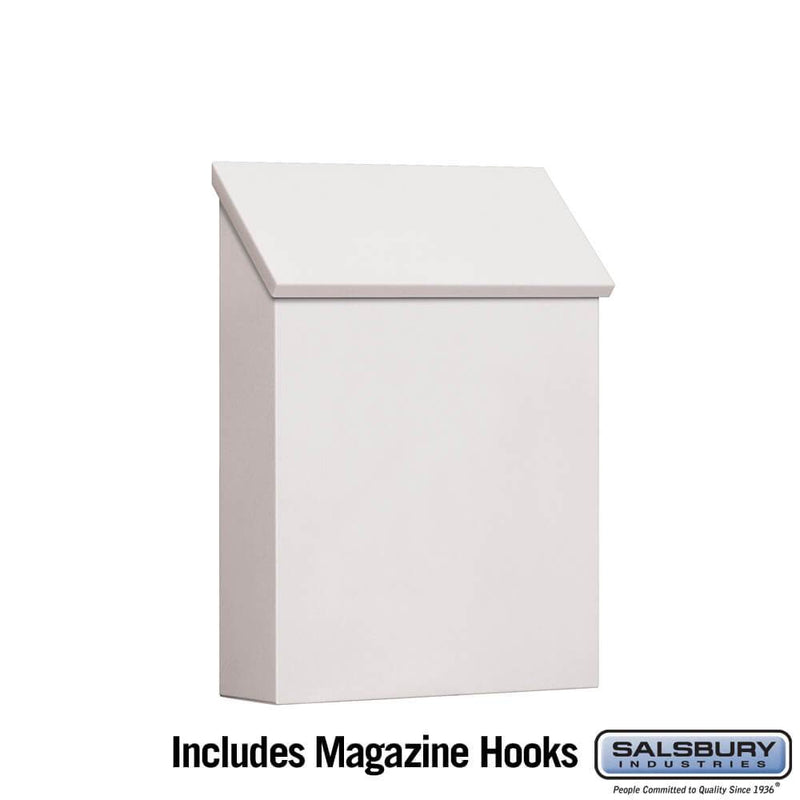 Traditional Mailbox - Standard - Vertical Style  - White