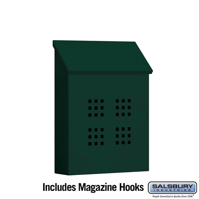 Traditional Mailbox - Decorative - Vertical Style  - Green