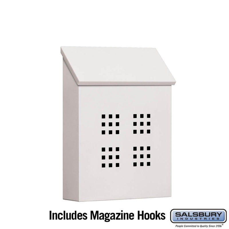 Traditional Mailbox - Decorative - Vertical Style  - White