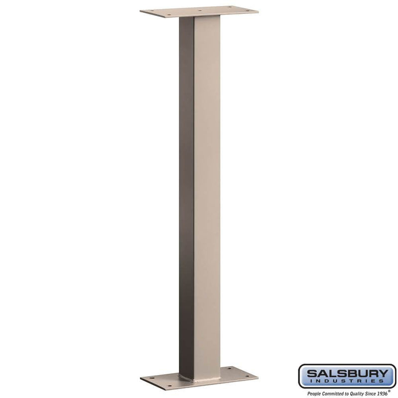 Mail House Post - Bolt Mounted  - Beige