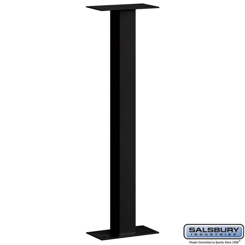 Mail House Post - Bolt Mounted  - Black