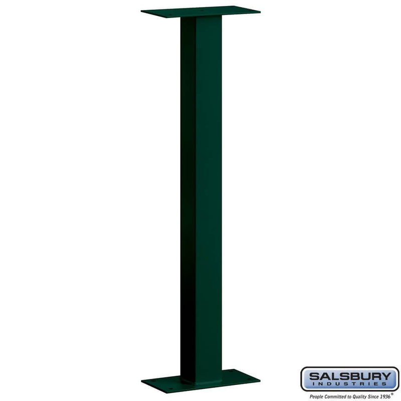 Mail House Post - Bolt Mounted  - Green