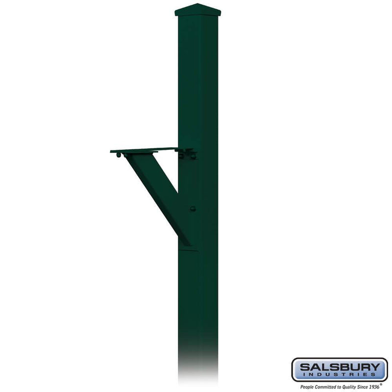 Decorative Mailbox Post - Modern - In-Ground Mounted  - Green