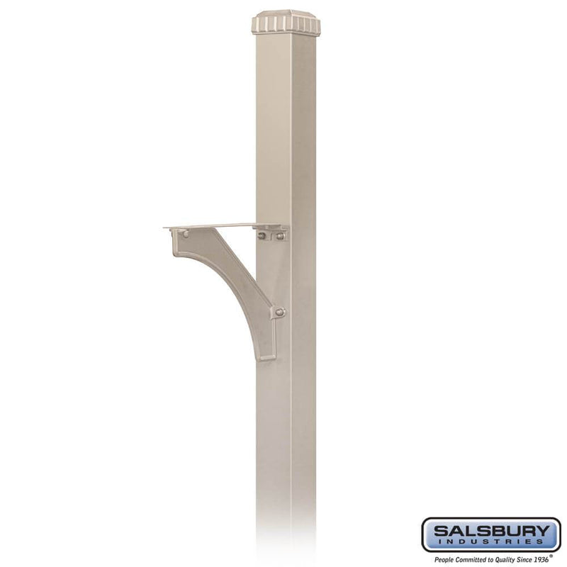 Decorative Mailbox Post - Designer - In-Ground Mounted  - Beige