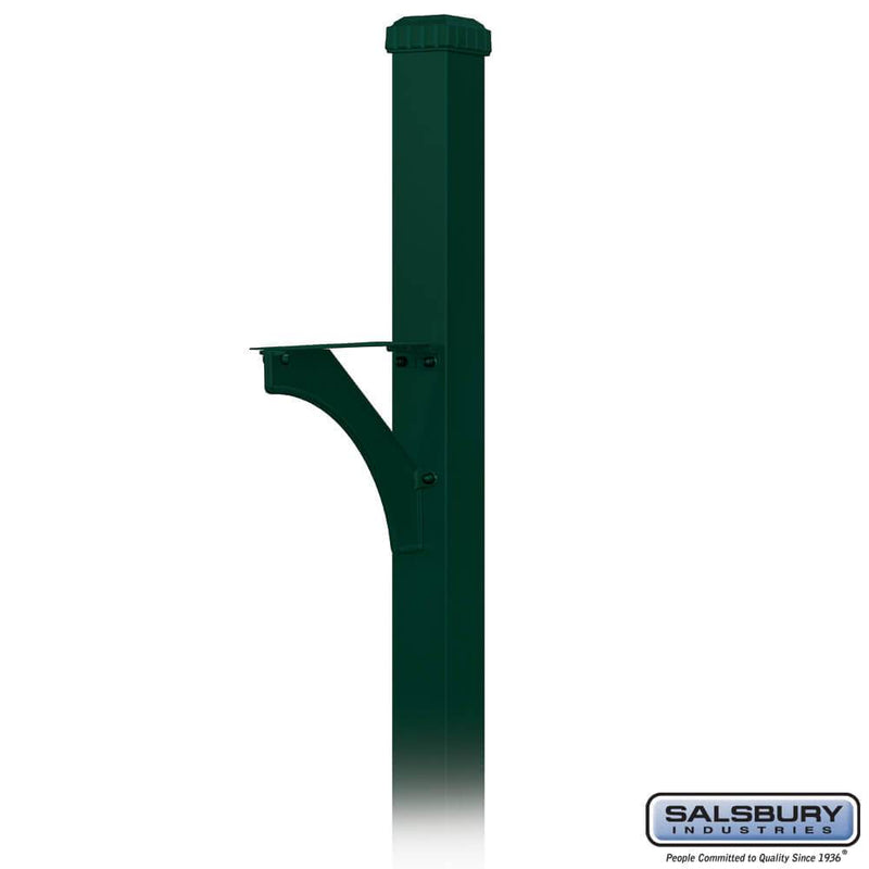 Decorative Mailbox Post - Designer - In-Ground Mounted  - Green